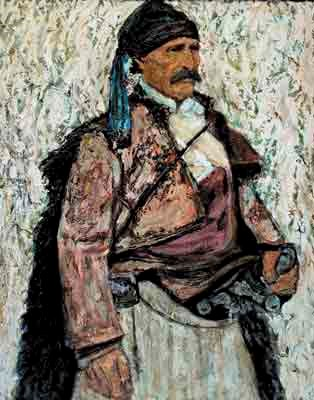 Дедо Лљо Малешевски, легендарен Македонски војвода, 1868, масло на платно