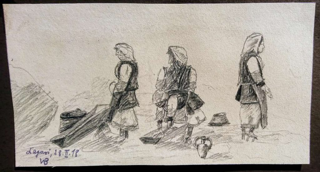 Werner Birkenfeld (XIX-XX) Drawings from Macedonia Ushkub
