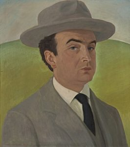 "Gustav Wunderwald (1882-1945) ""Авто портрет"" масло на платно"